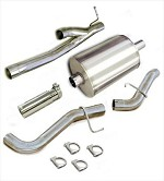 Corsa 2002-2006 Sierra Denali Cat Back System w/ 4.0in  Polished Slash Tip - COR24224