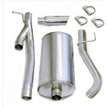 Corsa 2002-2006 Silverado/Sierra CCSB 6.0L Single Side Exit w/ 4in Polished Slash Cut Exhaust System - COR24296