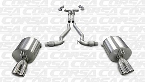 Corsa 2008-09 Pontiac G8 GT/GXP Dual Rear Exit With Twin 3.0 Pro-Series Tips - 14950