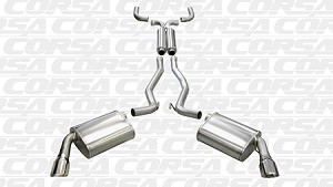 "Corsa 2010-2015 Camaro V6 Cat-Back Exhaust System With Single 4.0"" Tips - 14953"