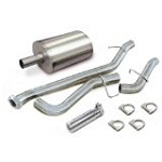 Corsa 2002-2007 Classic Silverado/Sierra RCSB 4.8L/5.3L Cat Back System w/ 4.0in  Polished Slash Tip - COR24261